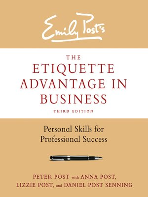 cover image of The Etiquette Advantage in Business