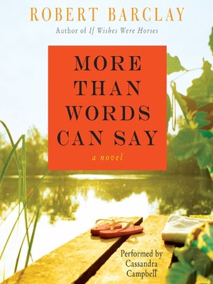 cover image of More Than Words Can Say