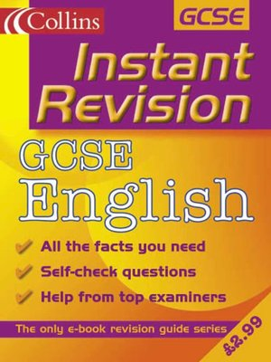 cover image of Instant Revision: GCSE English