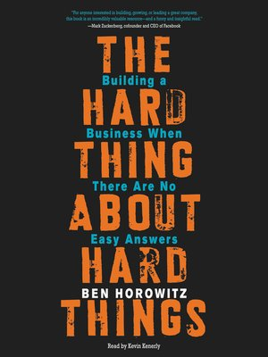 cover image of The Hard Thing About Hard Things
