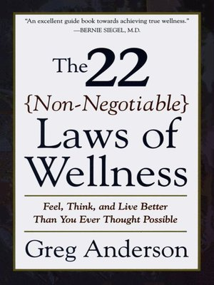 cover image of The 22 Non-Negotiable Laws of Wellness