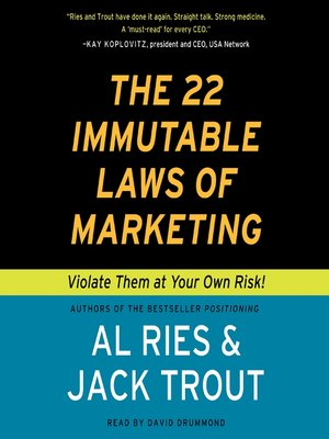 cover image of The 22 Immutable Laws of Marketing