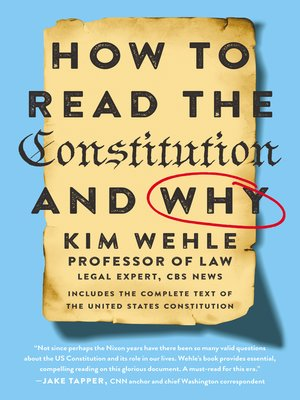 cover image of How to Read the Constitution—and Why