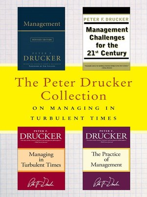 cover image of The Peter Drucker Collection on Managing in Turbulent Times