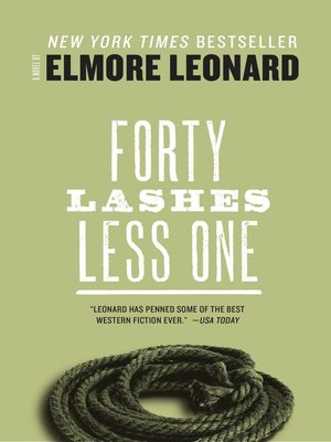 cover image of Forty Lashes Less One