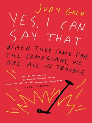 cover image of Yes I Can Say That