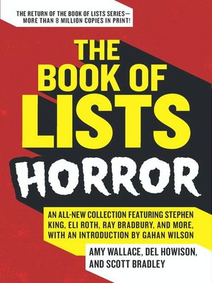 cover image of The Book of Lists: Horror