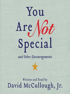 cover image of You Are Not Special