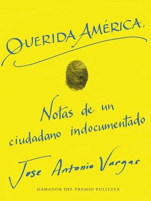 cover image of Dear America \ Querida America (Spanish edition)