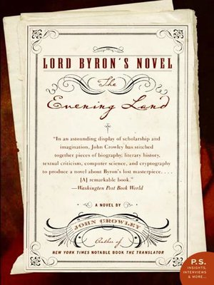 cover image of Lord Byron's Novel