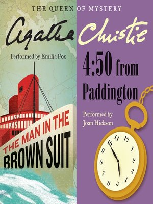 cover image of Man in the Brown Suit & 4:50 From Paddington