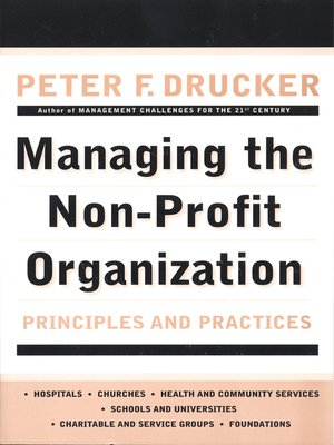 cover image of Managing the Non-Profit Organization