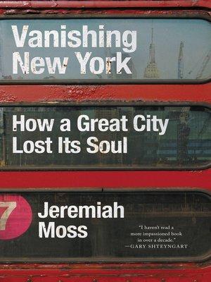 cover image of Vanishing New York