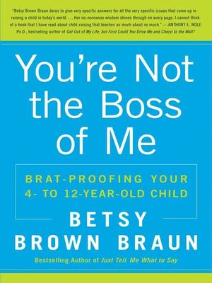 cover image of You're Not the Boss of Me