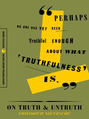 cover image of On Truth and Untruth