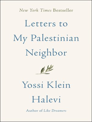 cover image of Letters to My Palestinian Neighbor