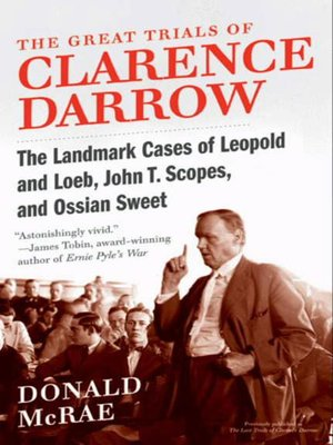 cover image of The Great Trials of Clarence Darrow