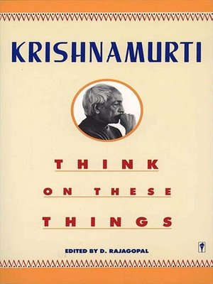 cover image of Think on These Things