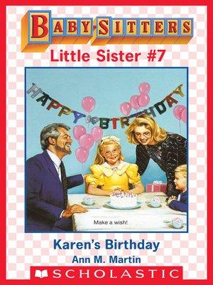 cover image of Karen's Birthday