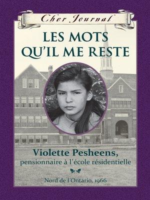 cover image of Les mots qu'il me reste