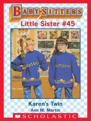 cover image of Karen's Twin