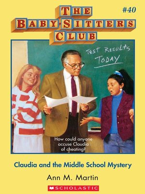 cover image of Claudia and the Middle School Mystery