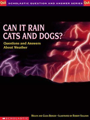 cover image of Can It Rain Cats and Dogs?