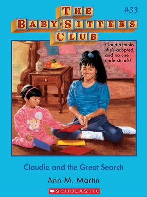cover image of Claudia and the Great Search