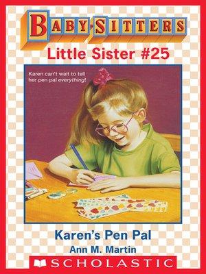 cover image of Karen's Pen Pal