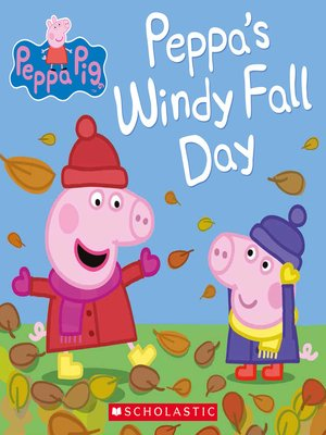 cover image of Peppa's Windy Fall Day