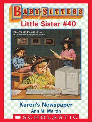 cover image of Karen's Newspaper