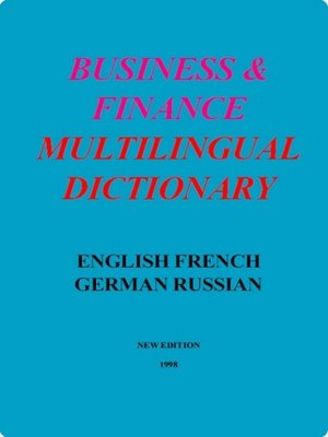 cover image of Business & Finance Multilingual Dictionary
