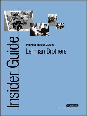 cover image of Lehman Brothers: The WetFeet Insider Guide