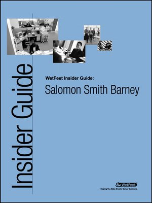 cover image of Salomon Smith Barney: The WetFeet Insider Guide