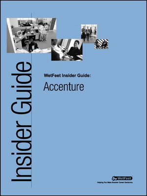 cover image of Accenture: The WetFeet Insider Guide