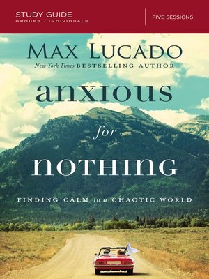 cover image of Anxious for Nothing Study Guide