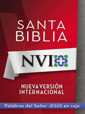 cover image of NVI Santa Biblia con letra roja