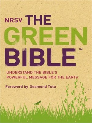 cover image of NRSV, Green Bible, eBook