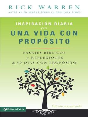 cover image of Inspiración diaria para una vida con propósito