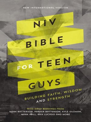 cover image of NIV, Bible for Teen Guys, Ebook