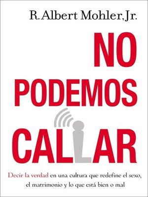 cover image of No podemos callar
