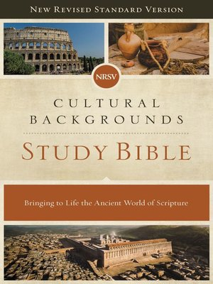cover image of NRSV, Cultural Backgrounds Study Bible, eBook