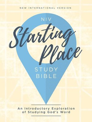 cover image of NIV, Starting Place Study Bible, eBook