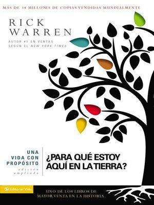 cover image of Una vida con propósito