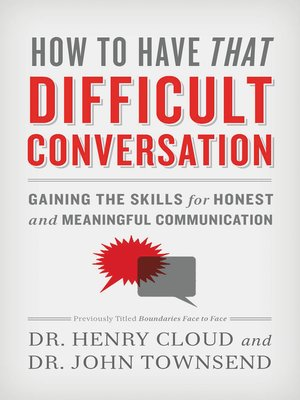 cover image of How to Have That Difficult Conversation