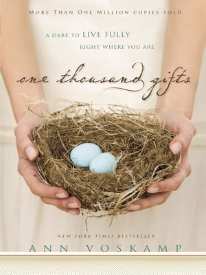 cover image of One Thousand Gifts