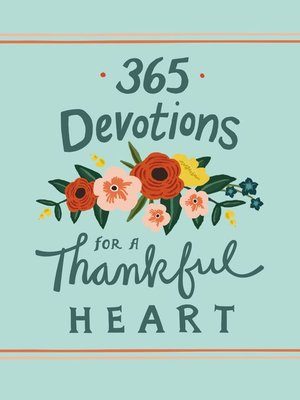 cover image of 365 Devotions for a Thankful Heart