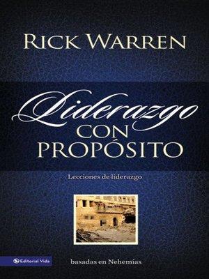 cover image of Liderazgo con propósito