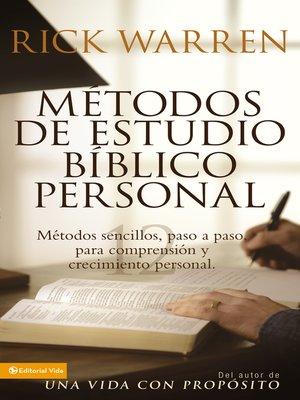 cover image of Métodos de estudio bíblico personal