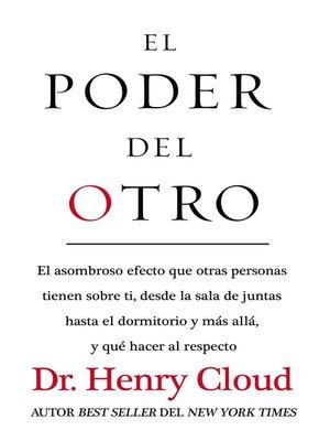 cover image of El poder del otro